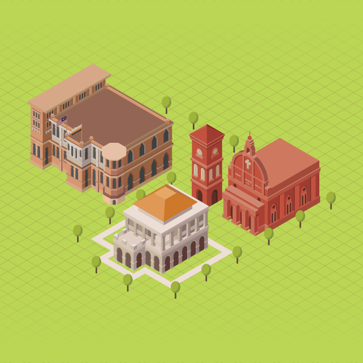The Visual Team web thumbnail - Malaysia Isometric landmarks