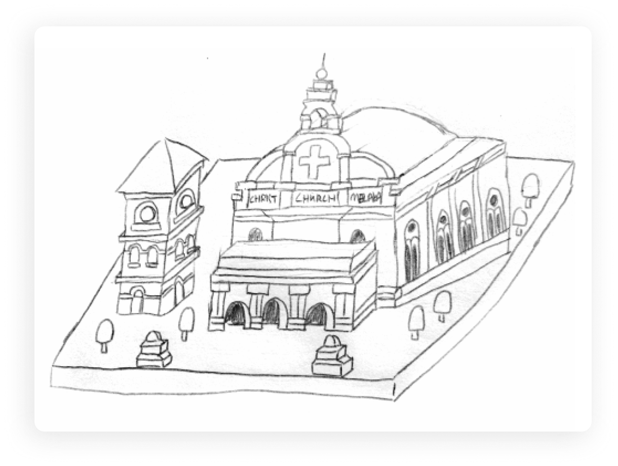 The Visual Team web thumbnail - Malaysia Isometric landmarks sketches