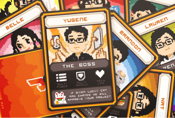 The Visual Team web thumbnail - jin design cards