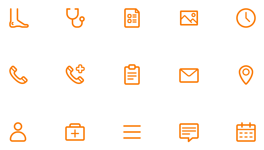 The Visual Team client website icon - feetcare